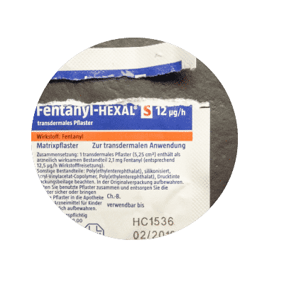 Open fentanyl wrapper